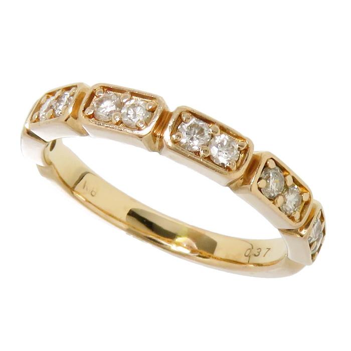 13号 ダイヤモンド 計0.37ct リング・指輪 K18PGピンクゴールド 18金 3.5g レディース【中古】【真子質店】【TMaI】