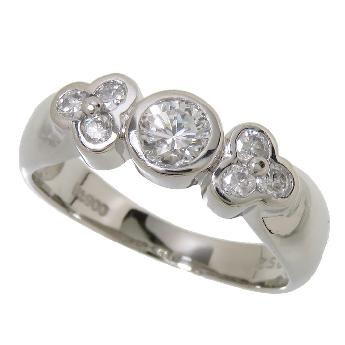 10号 ダイヤモンド 計0.52ct リング・指輪 Pt900プラチナ 4.5g レディース【中古】【真子質店】【TSK】