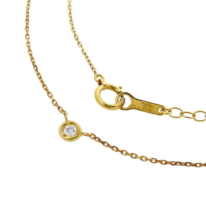 ダイヤモンド 0.05ct ネックレス K18ゴールド 18金 1.5g 40cm レディース【中古】【真子質店】【KK】