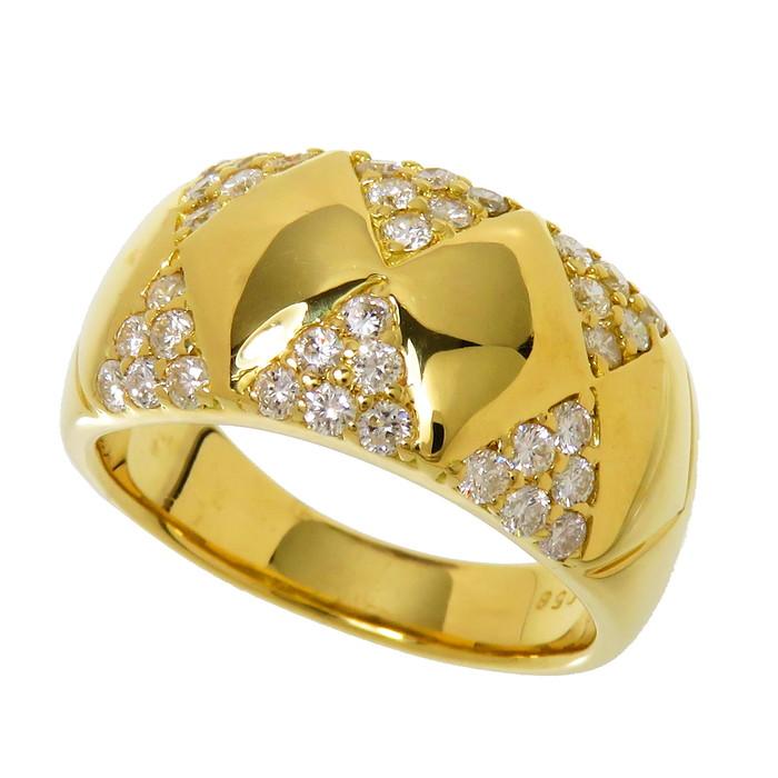 12号 ダイヤモンド 計0.58ct リング・指輪 K18ゴールド 18金 9.2g レディース【中古】【真子質店】【MoTMi】
