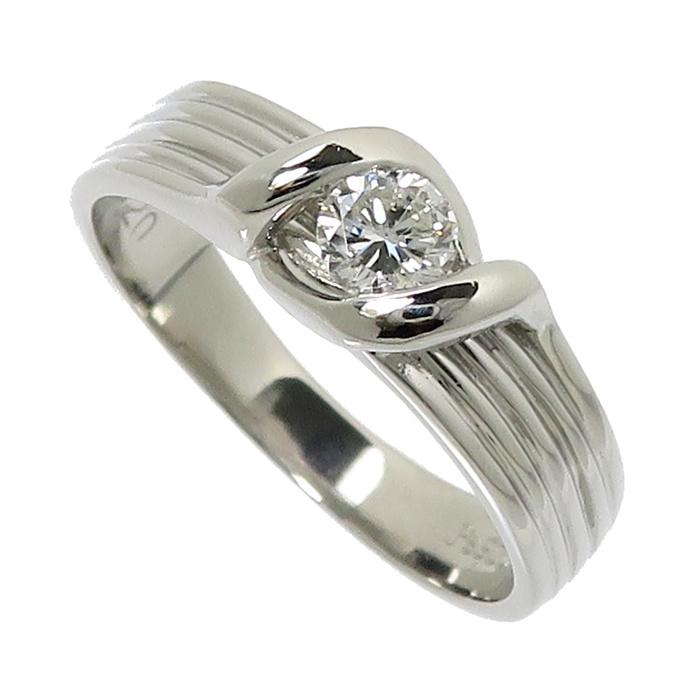 12号 ダイヤモンド 0.20ct リング・指輪 Pt900プラチナ 4.5g レディース【中古】【真子質店】【TIx】