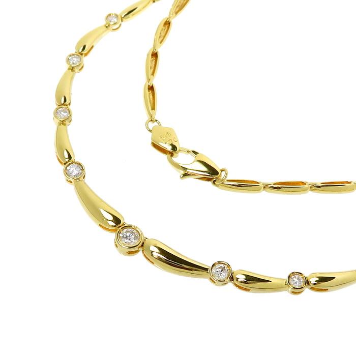ダイヤモンド 計0.70ct ネックレス K18ゴールド 18金 15.8g 42cm レディース【中古】【真子質店】【KTx】