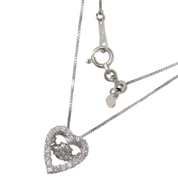 ダイヤモンド 0.18/計0.20ct ネックレス K18ゴールド 18金 2.3g 46cm レディース【中古】【真子質店】【IDx】