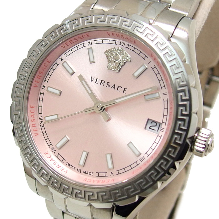 【VERSACE/ヴェルサーチ】 ヘレニウム V12 腕時計 ステンレススチール クオーツ レディース【中古】【真子質店】【TTx】