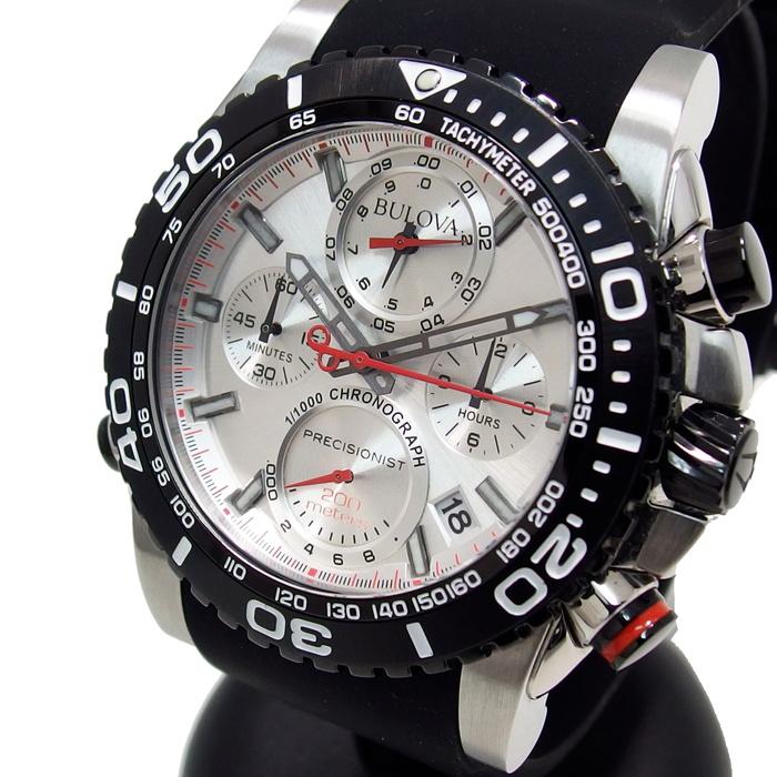 98B210 C977776 BULOVA/ブローバ 腕時計 ステンレススチール/ラバー クオーツ メンズ【中古】【真子質店】【TMaI】