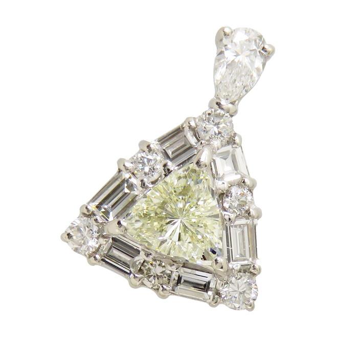 ダイヤモンド 0.441/計0.56ct ペンダントトップ Pt900プラチナ 2.6g レディース【中古】【真子質店】【TSx】