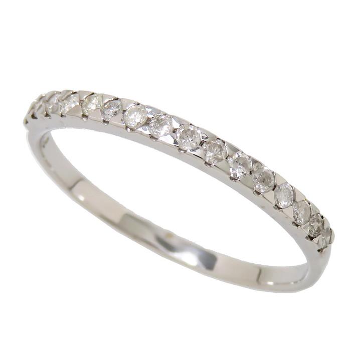 13号 ダイヤモンド 計0.2ct リング・指輪 K18WGホワイトゴールド 18金 1.3g レディース【中古】【真子質店】【Yx】