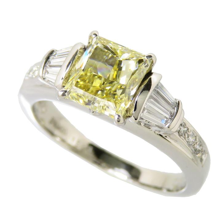 14.5号 角ダイヤモンド 1.593ct その他ダイヤ 計0.3ct リング・指輪 Pt900プラチナ 6.0g レディース【中古】【真子質店】【IIxx】