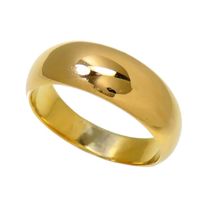 15号 甲丸 リング・指輪 K18ゴールド 18金 6.9g レディース【中古】【真子質店】【Maxx】