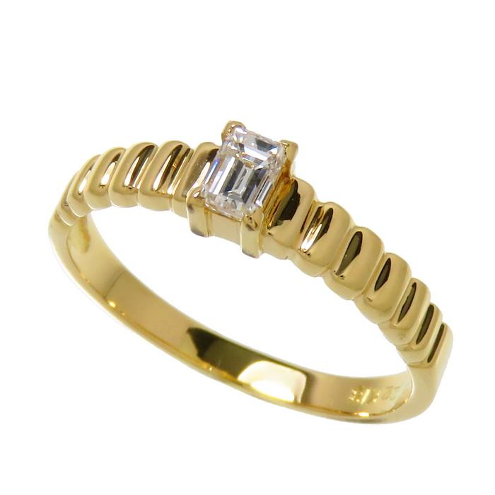 11号 一粒 ダイヤモンド 0.22ct リング・指輪 K18ゴールド 18金 2.1g レディース【中古】【真子質店】【IKY】