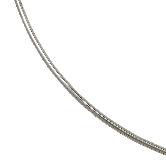 オメガ ネックレス K18WGホワイトゴールド 18金 8.5g 42cm レディース【中古】【真子質店】【DMoI】