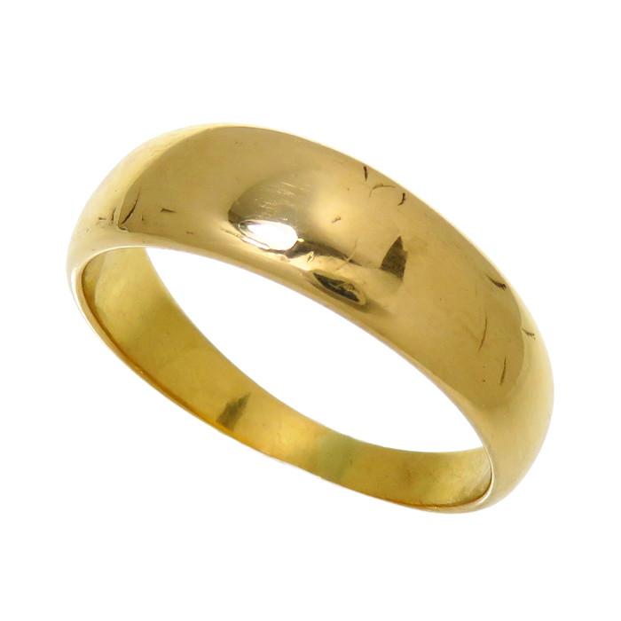 13号 甲丸 リング・指輪 K18ゴールド 18金 4.0g レディース【中古】【真子質店】【EULB】【IKx】
