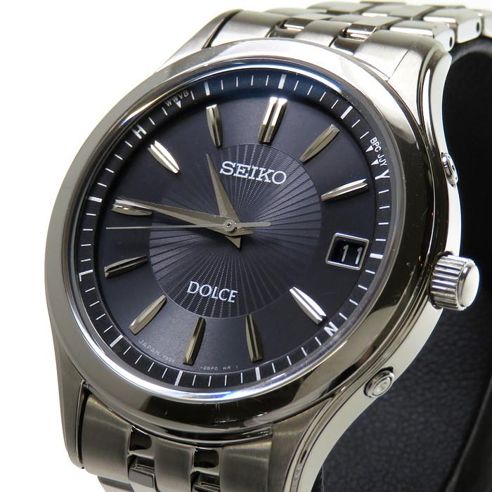 【SEIKO/セイコー】 ドルチェ 7B24-0AV0 腕時計 ステンレススチール ソーラー電波 ブラック系文字盤 メンズ【中古】【真子質店】【TTx】