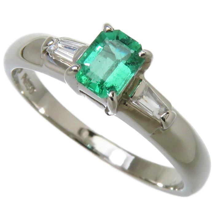 上品なエメラルド×ダイヤモンドのリング☆ 11号 エメラルド 0.27ct 商品追加値下げ在庫復活 ダイヤモンド 計0.10ct リング 真子質店 レディース Pt850プラチナ 3.3g 指輪 中古 入荷予定 IMoMi