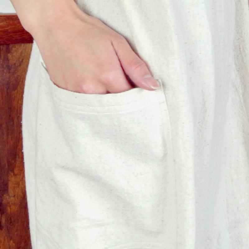 チェンマイコットンサロペット/【エスニックファッション】/サロペット/オールインワン/無地/コットン/ワイドパンツ/エスニック/ガーデニング/カフェ/陶芸/レディースファッション