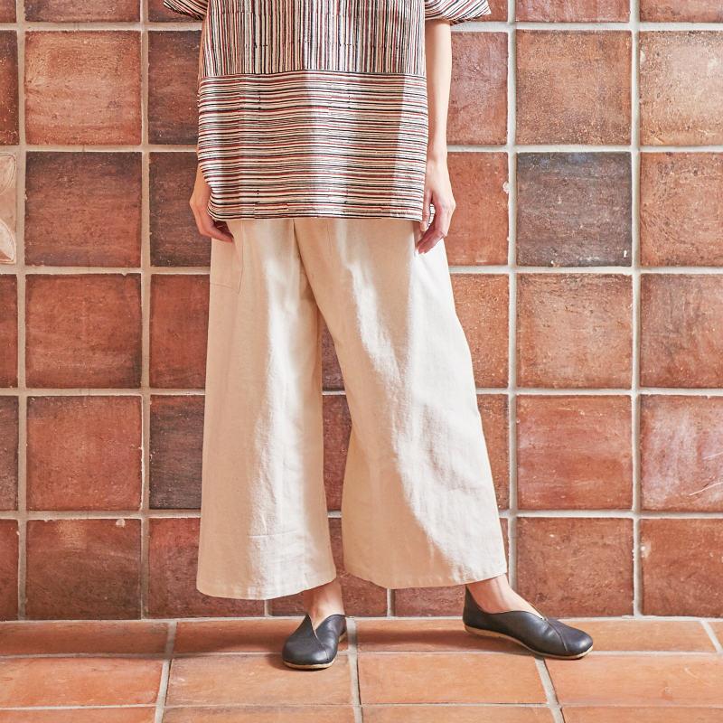 チェンマイコットン簡易タイパンツ/【エスニックファッション】/【メール便可】/パンツ/ボトムス/タイパンツ/エスニック/レディース/無地/エスニックパンツ/レディースファッション
