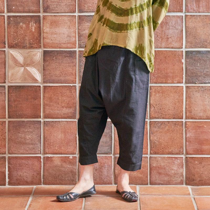 チェンマイコットン簡易ヒルトライブパンツ/【エスニックファッション】/【メール便可】/パンツ/ボトムス/エスニック/レディース/無地/サルエルパンツ/エスニックパンツ/レディースファッション