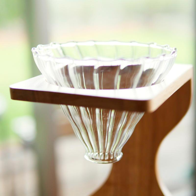 耐熱ガラス製のコーヒードリッパー ドリップ ドリッパー コーヒー コーヒーサーバー 新作送料無料 プレゼント 新作入荷 ガラスドリッパー ギフト シャスタ