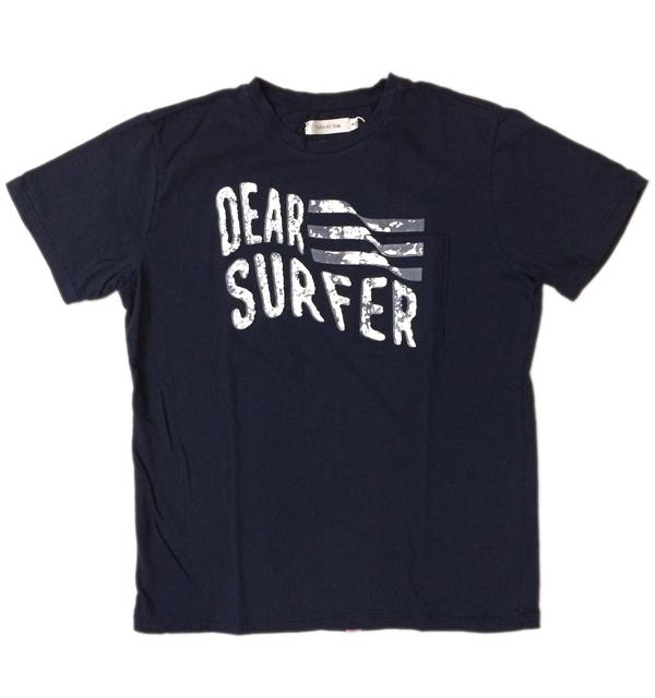 ターンミーオン TURN ME ON プリントポケット S/S TEE ライトオンスコットン DEAR SURFER NAVY 【メール便対応可】