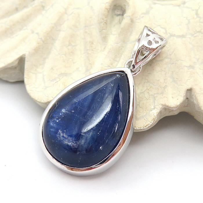 カイヤナイト 藍晶石 チェーン付き NEW ARRIVAL 送料無料 ペンダント ネックレス 天然石 パワーストーン ステンレスチェーン ブラジル産 SV925 シルバー925 2020新作 カイヤナイトAAAA プレゼント アクセサリー ジュエリー