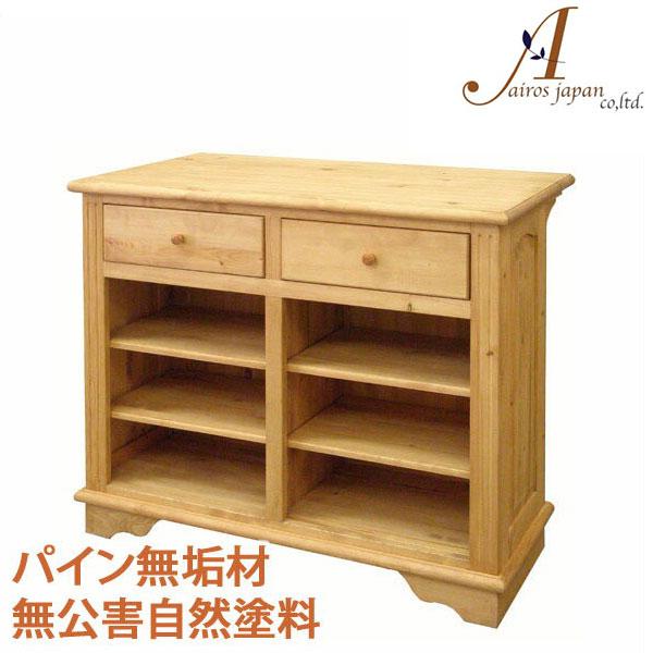 カントリー家具 パイン無垢材 カウンターテーブル ハイテーブル AIROS JAPAN Atelier(アトリエ) A016 counter 1050