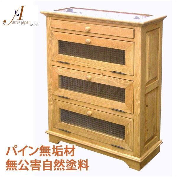 カントリー家具 パイン無垢材 キャビネット AIROS JAPAN Atelier(アトリエ) A017 glass cabinet