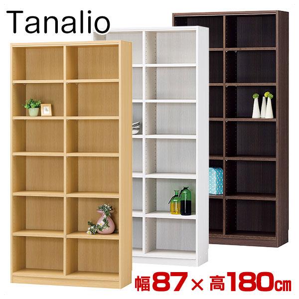 本棚 オープンラック タナリオ 幅87×高180cm TNL-1887 Tanalio ブックシェルフ 壁面本棚 カラーボックス 本棚 本収納