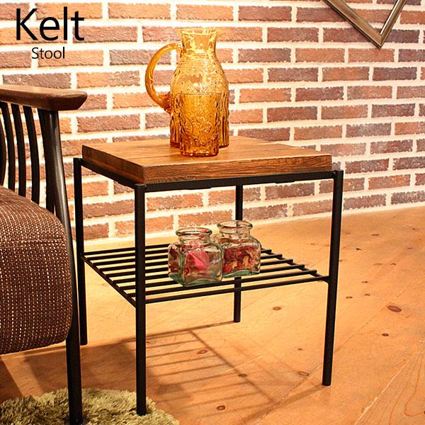 オールドファニチャー 古材風オイル仕上げ kelt レトロ アンティーク イス 椅子 腰掛け ケルト スツール 【完成品】