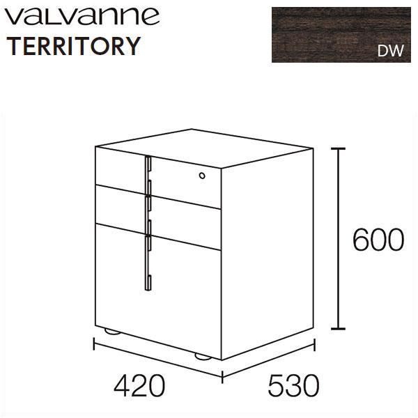 バルバーニ valvanne テリトリー ムーブユニット DD-F242-DW (ダークウッディ)