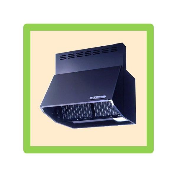 富士工業製 シロッコファンレンジフード W600×H600mm(BDR-3HL-601BK)ブラック 送料無料