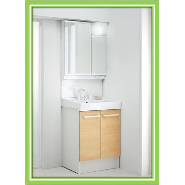 INAX 洗面化粧台 オフト600 2面鏡アジャストミラー(LED照明) FTV1N-605SY+MAJX2-602TZJU送料無料