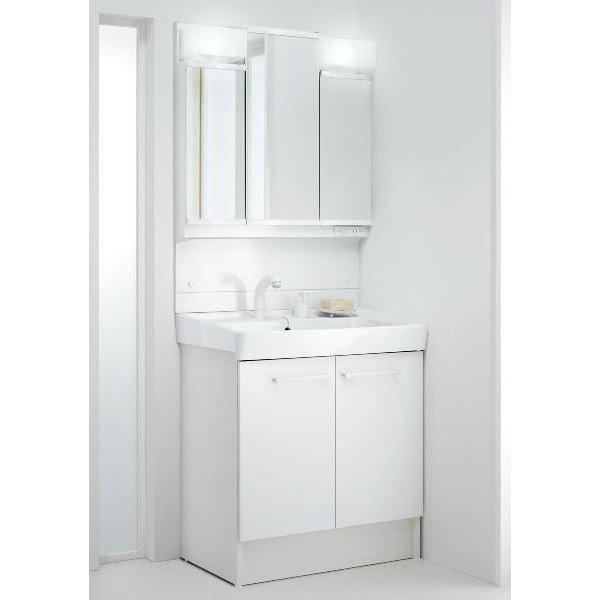 INAX 洗面化粧台 オフト750 扉タイプ 3面鏡(LED照明) FTV1N-755SY+MFTV1-753TYJ送料無料