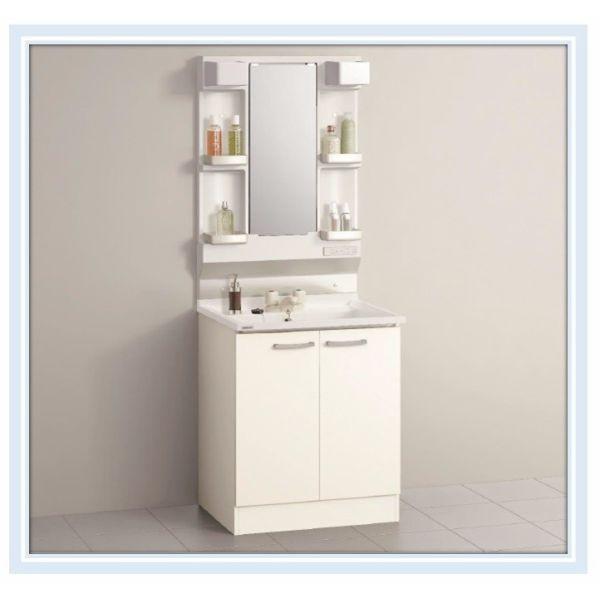 ■クリナップ 洗面化粧台 BGAシリーズ W600 ツインハンドル水栓 1面鏡  送料無料■