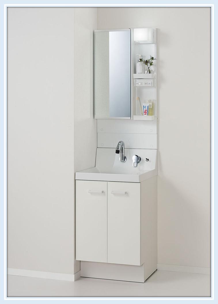 LIXIL INAX ピアラ間口500サイズ 扉タイプ 1面鏡(鏡裏収納付)全高1900mm AR3N-505SY+MAR3-501TXJ 送料無料