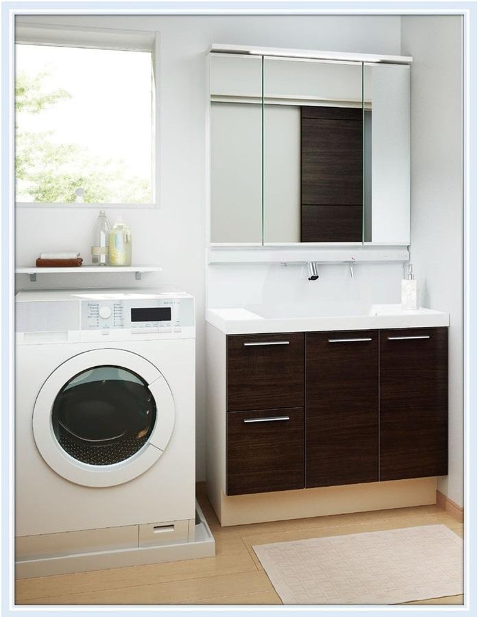 新しいスタイル INAX 洗面化粧台 エルシィ 引出しタイプ ミドルグレード+3面鏡(LCY1H-755SY-A+MLCY1-753TXJU)送料無料:エイチケー 750mm-木材・建築資材・設備