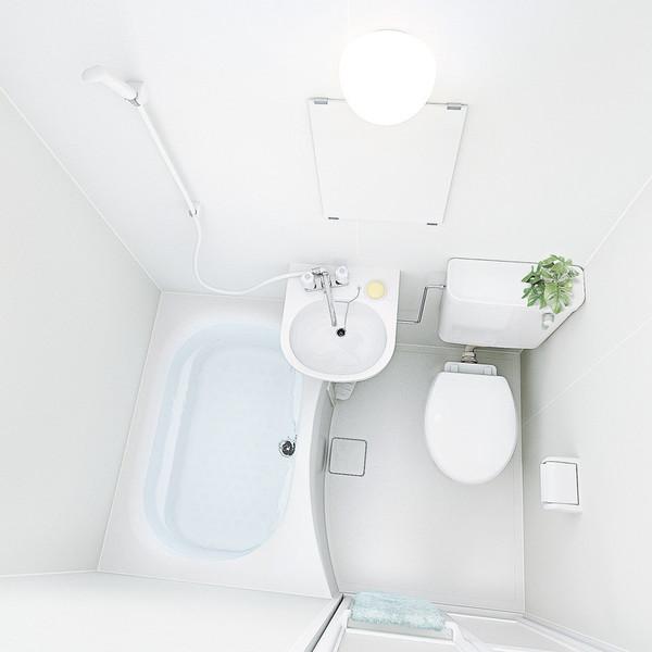 ■ハウステック 3点式バスルーム 洗面器 トイレ付 NJH1116 送料無料■