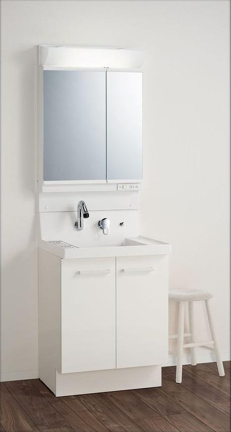 LIXIL INAX ピアラ間口600サイズ 扉タイプ 2面鏡(全収納タイプ) AR3N-605SY+MAR2-602TXS 送料無料