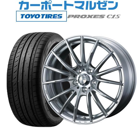 特売 【お買い物マラソン期間 7.5Jトーヨー 全商品P5倍】新品 ウェッズスポーツ・送料無料・4本セットウェッズ ウェッズスポーツ SA-35RVi-Silver(ブイアイ-シルバー)17インチ 7.5Jトーヨー (数量限定)215/55R17 プロクセス PROXES C1S (数量限定)215/55R17 98W XL, ニイハマシ:cd576b47 --- easyacesynergy.com