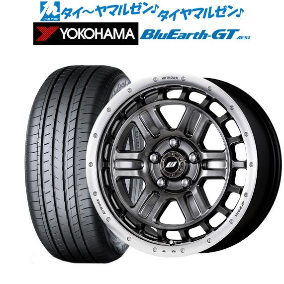 海外ブランド  新品 (AE51)・送料無料・4本セットワーク クラッグ T-GRABICII(ティーグラビックII)グリミットブラックカットリム(GTKRC)17インチ BluEarth 7.0Jヨコハマ BluEarth ブルーアース 205/50R17 GT (AE51) 205/50R17 93W XL, YNS WEDDING:ecd25ee3 --- fotomat24.com