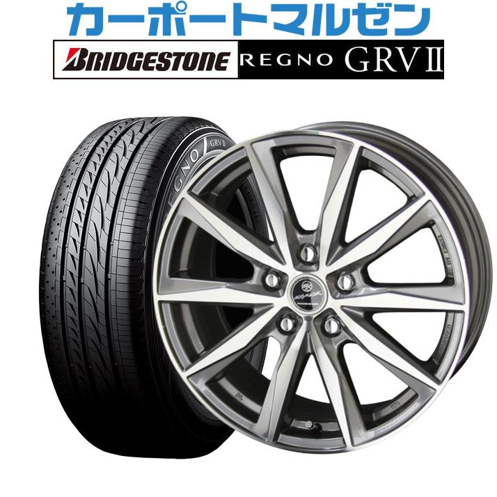 新品 205 60R16 サマータイヤ ホイール 4本セット 送料無料 日本限定 4本セットKYOHO スマック REGNO 6.5Jブリヂストン 92H 安値 GRV2 レグノ GRVII プライムシリーズ バサルトプライムグレーメタリック×ポリッシュ16インチ