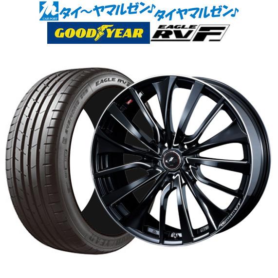 新品 225 50R18 サマータイヤ 特価品コーナー☆ ホイール 4本セット 送料無料 2020新作 4本セットウェッズ レオニス 99V イーグル サイドマシニング18インチ RV-F 8.0Jグッドイヤー XL RVF VTパールブラック