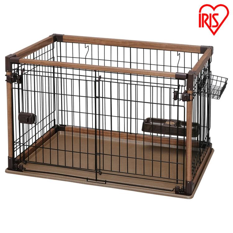 オープンウッディサークル ダークブラウン OPWS-960送料無料 サークル ケージ ペットサークル ペット ペットケージ ウッディサークル 室内 室内用 犬 イヌ 猫 ネコ ねこ おしゃれ 超小型犬 小型犬 組み立て 簡単 組立て アイリスオーヤマ iris60th