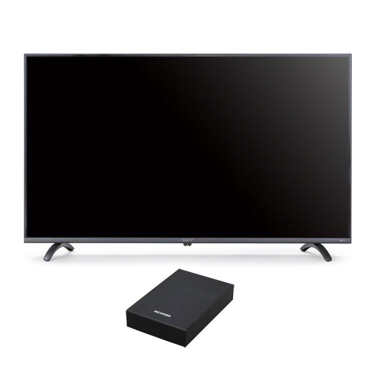 テレビ HDD セット TV 4K 音声操作 43型 外付け ハードディスク アイリスオーヤマ 4Kテレビ 43型 音声操作 外付けHDDセット品送料無料 テレビ HDD セット TV 4K 音声操作 43型 外付け ハードディスク アイリスオーヤマ