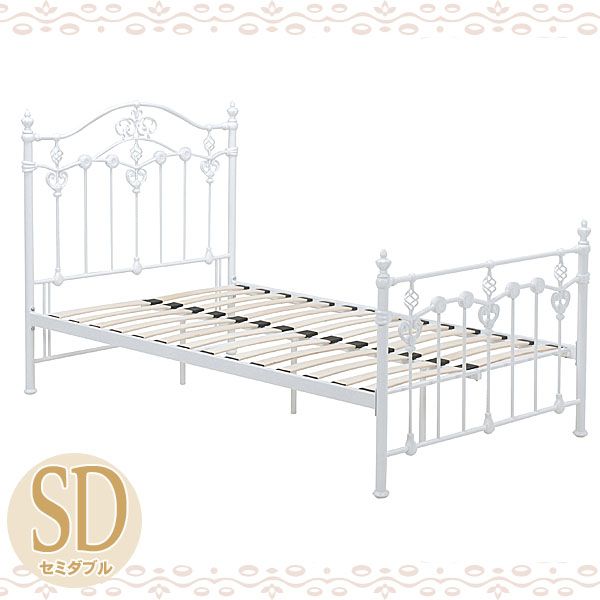 【TD】デザインベッド KH-3078WH-SD セミダブルベット 寝台 寝床 BED bed【代引不可】【HH】【送料無料】【02P30May15】