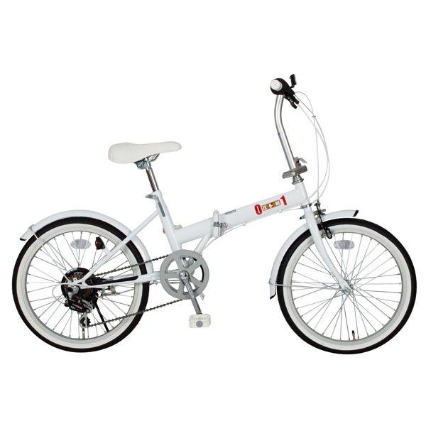 【送料無料】【折りたたみ自転車】ZERO-ONE FDB20 6S【20インチ 6段変速】ミムゴ MG-ZRE206-WH・ホワイト【TD】