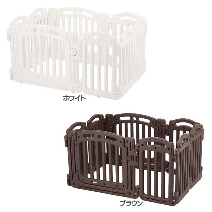 2ドアサークル 63704送料無料 ベビーゲート ドア付 赤ちゃん ベビー家具 ホワイト・ブラウン【D】