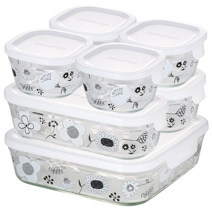 パック&レンジシステムセット BLOMMA PS-PRNSND7送料無料 保存 容器 調理 料理 花 AGCテクノグラス 【D】