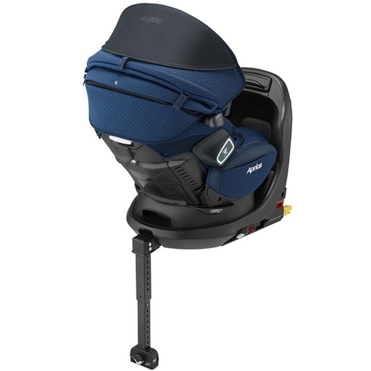 6045d3986c5c78 ... ベビー用品赤ちゃんチャイルドシートカーシートISOFIX取付安全ベッド型回転式シェードアップリカフラ ...