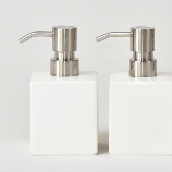 White cube earthenware hand soap bottle kitchen soap dispenser bottle soap  bottle shampoo bottle refilling bottle fashion interior miscellaneous goods  ...