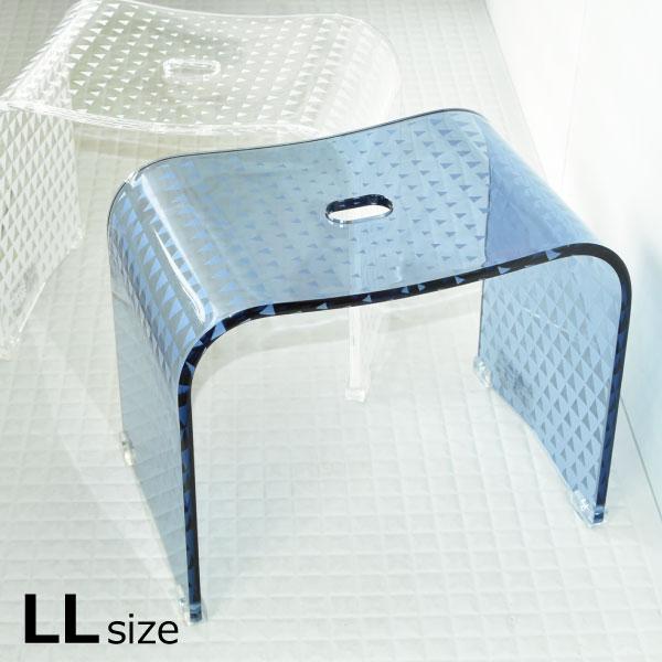 お風呂イス トライアングル バスチェア LL ハイタイプ アクリル 掃除簡単 お風呂椅子 座面高さ約35cm 汚れにくい お手入れ簡単 バスグッズ 風呂用イス バス用品 インテリア雑貨 北欧 おしゃれ 三角 デザイン